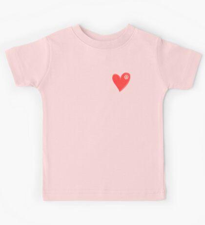 VW Large love heart/VW logo  Kids Tee