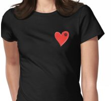 VW Large love heart/VW logo  Womens Fitted T-Shirt