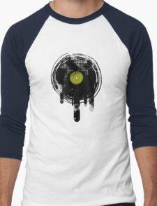 Green Melting Vinyl Records Vintage  Men's Baseball ¾ T-Shirt
