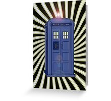 TARDIS CLASSIC VORTEX 1 Greeting Card