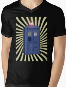 TARDIS CLASSIC VORTEX 1 Mens V-Neck T-Shirt