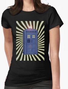 TARDIS CLASSIC VORTEX 1 Womens Fitted T-Shirt