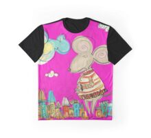 Urban Mouse - Magenta Graphic T-Shirt