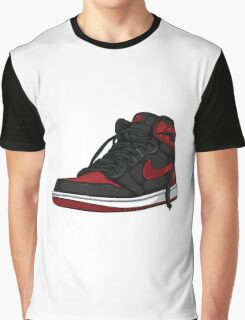 "Air Jordan 1 ""BRED"" Graphic T-Shirt"