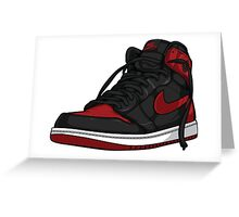 "Air Jordan 1 ""BRED"" Greeting Card"