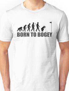 Born To Bogey Funny Golf Evolution Putting Unisex T-Shirt