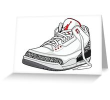 "Air Jordan 3 (III) ""WHITE & CEMENT"" Greeting Card"