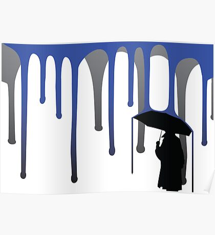 Rainfall on an Anonymous Man Poster