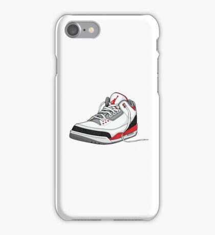 "Air Jordan 3 (III) ""FIRE RED"" iPhone Case/Skin"