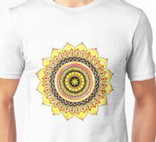 Orange Minimal Mandala Unisex T-Shirt