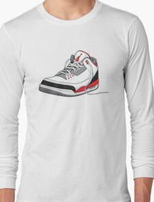 """Air Jordan 3 (III) """"FIRE RED"""" Long Sleeve T-Shirt"""
