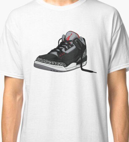 "Air Jordan 3 (III) ""BLACK & CEMENT"" Classic T-Shirt"
