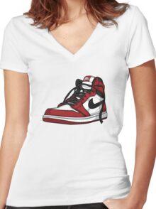 """Air Jordan 1 """"CHICAGO"""" Women's Fitted V-Neck T-Shirt"""
