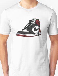 """Air Jordan 1 """"BLACK TOE"""" Unisex T-Shirt"""