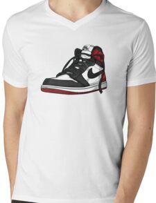 "Air Jordan 1 ""BLACK TOE"" Mens V-Neck T-Shirt"