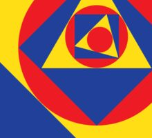 Primary Colors & Shapes Geometric Pattern Sticker