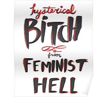 Hysterical Bitch From Feminist Hell Poster