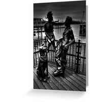 Sculptures At Mermaid Quay Cardiff Wales Greeting Card