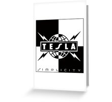 TESLA SIMPLICITY Greeting Card