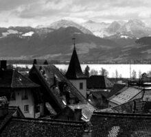 View To The Swiss Alps Switzerland Sticker