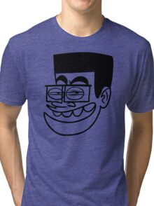 BD Stupid Face Cartoon Tri-blend T-Shirt