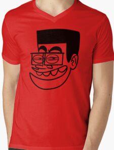 BD Stupid Face Cartoon Mens V-Neck T-Shirt