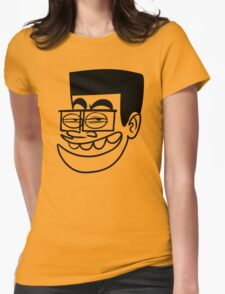 BD Stupid Face Cartoon Womens Fitted T-Shirt