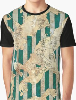 Striped fantasy map Graphic T-Shirt