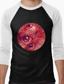 Third eye in a perfect circle.  Men's Baseball ¾ T-Shirt