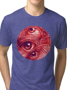 Third eye in a perfect circle.  Tri-blend T-Shirt