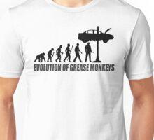 Evolution of Grease Monkeys Funny Mechanic Shirt Unisex T-Shirt