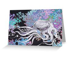 Psychedelic octo Greeting Card