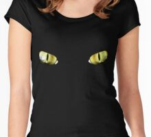 Black Cat Eyes Women's Fitted Scoop T-Shirt