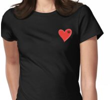 VW Kombi small loveheart/vw logo  Womens Fitted T-Shirt