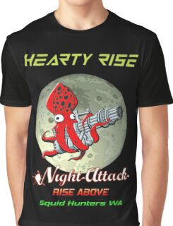Hearty Rise Night Attack By The Moon Light Graphic T-Shirt
