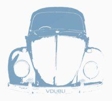 VW Beetle -  Light Blue - VDUBU personalised One Piece - Short Sleeve