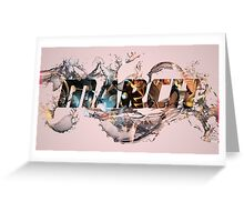 logo 24th march design water  Greeting Card