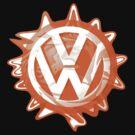 Orange VW Swirl by melodyart