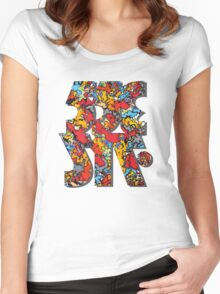 553717 serif explosion Women's Fitted Scoop T-Shirt