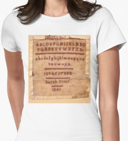 Sarah Prior's Sampler 1841 Photograph Womens Fitted T-Shirt