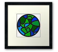 Abstract Geometric Earth Framed Print