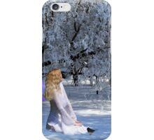 Yule Winter Faerie and Animals iPhone Case/Skin