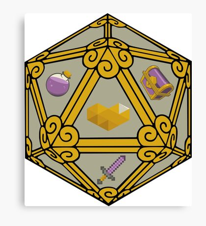 Willow Gaming D20 logo Canvas Print