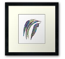 Abstract Gumleaves Framed Print