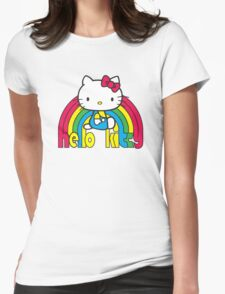 Hello Kitty Rainbow Womens Fitted T-Shirt