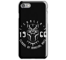 T'challa's School of Martial Arts iPhone Case/Skin
