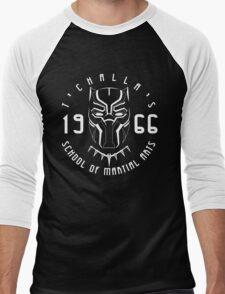 T'challa's School of Martial Arts Men's Baseball ¾ T-Shirt