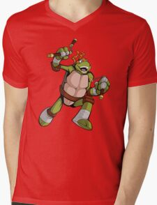 TMNT - Mikey Mens V-Neck T-Shirt
