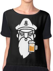 Beard With Beer Chiffon Top