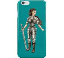 Lady Knight (Colour) iPhone Case/Skin